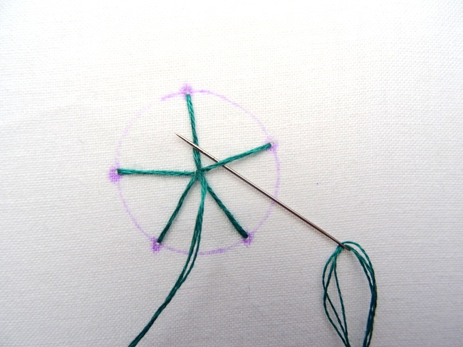 Spider Web Stitch Tutorial ~ Wandering Threads Embroidery