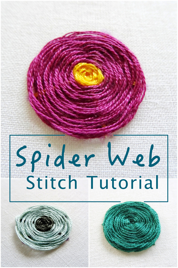Spider Web Stitch Tutorial ~ Wandering Threads